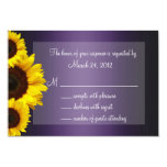 Purple and Yellow Sunflower Wedding RSVP