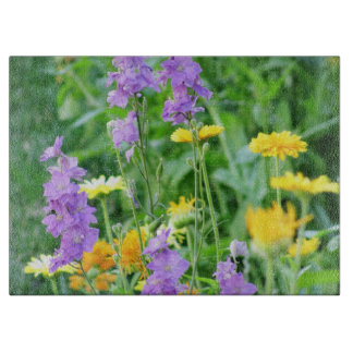 Purple and Yellow Wildflowers Cutting Boards