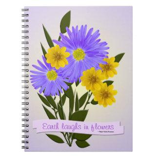 Purple and Yellow Wildflowers Notebook