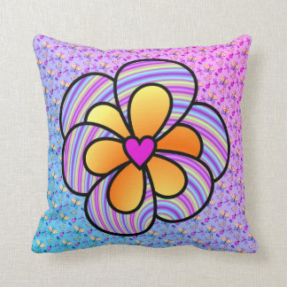 Purple and Yellow with heart Pillow