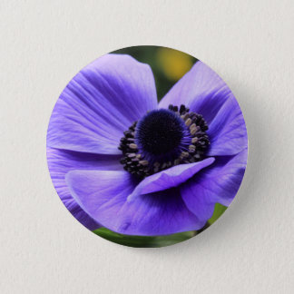 Purple Anemone 6 Cm Round Badge