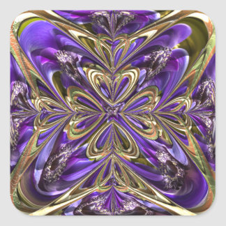 Purple Anemone Abstract Square Sticker