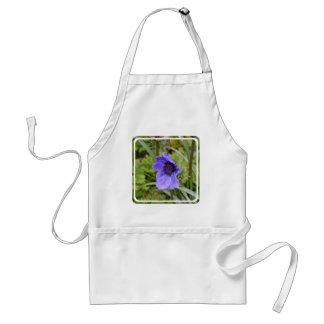Purple Anemone Flower Apron