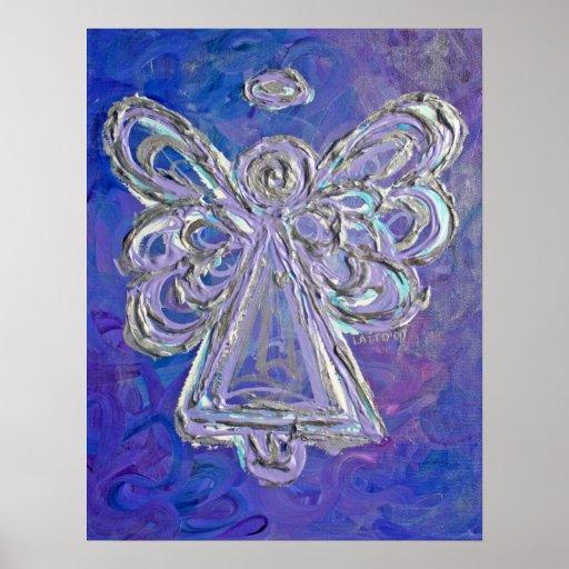Purple Angel Art Poster Print