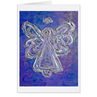 Purple Angel Greeting Card
