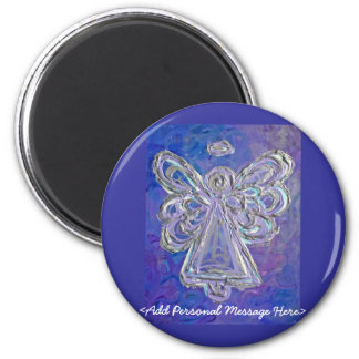 Purple Angel Magnet with Customised Message