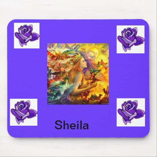 purple angel mouse pad