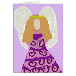 Purple Angel Thank You Notes Note Card