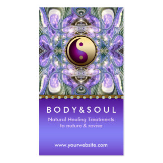 Purple Angelic Energy Healing Holistic New Age Pack Of Standard Business Cards