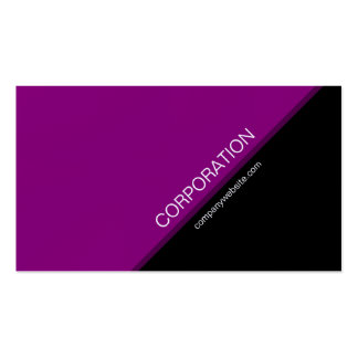 Purple angled text modern business card