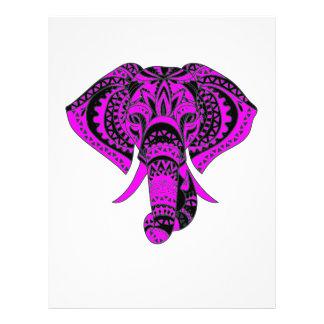 Purple Animal Elephant 21.5 Cm X 28 Cm Flyer