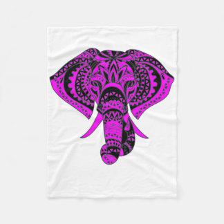 Purple Animal Elephant Fleece Blanket