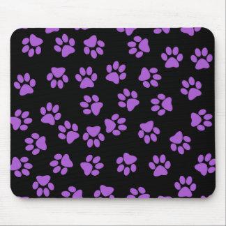 Purple Animal Footprints Mouse Pad