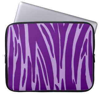Purple Animal Print Electronics Bag
