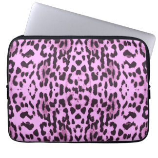 Purple animal skin print pattern laptop sleeves
