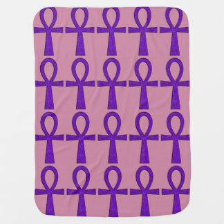 Purple Ankh Baby Blanket