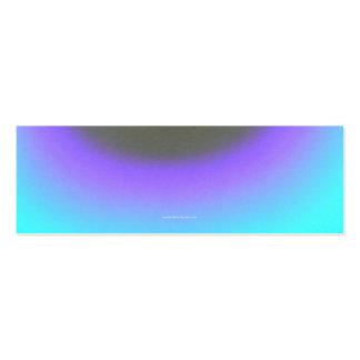 Purple & Aqua Halos Pack Of Skinny Business Cards