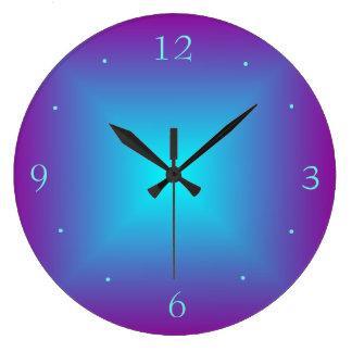 Purple/Aqua Illuminated Printed  Design Wall Clock