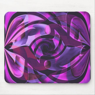 Purple arabesques mouse pad