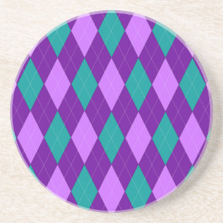 Purple Argyle Coaster