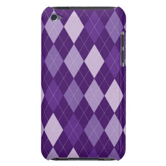 Purple argyle pattern barely there iPod cases