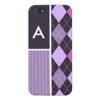 Purple Argyle Pattern Cases For iPhone 5