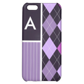 Purple Argyle Pattern Cover For iPhone 5C
