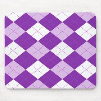 Purple Argyle Pattern Mousepads