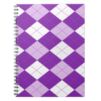 Purple Argyle Pattern Notebooks