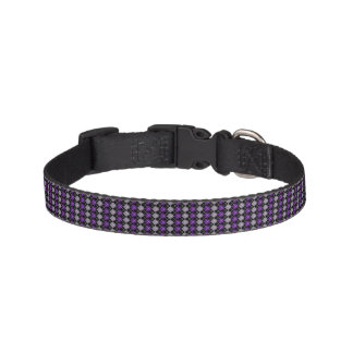 Purple Argyle Pet Collar