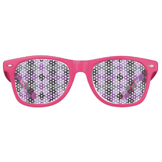 Purple Argyle Retro Sunglasses