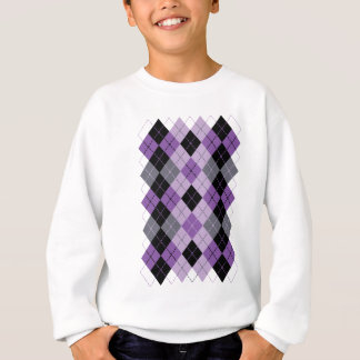 Purple Argyle Sweatshirt