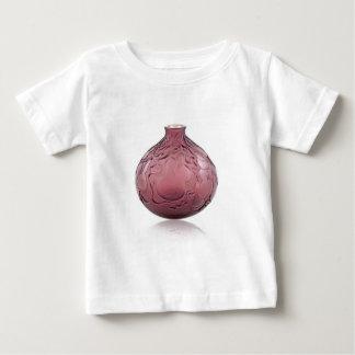 Purple Art Deco glass vase depicting pears. Baby T-Shirt