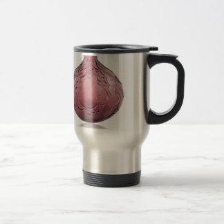 Purple Art Deco glass vase depicting pears. Travel Mug