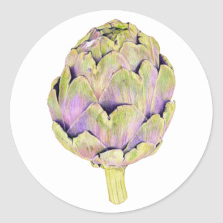 Purple Artichoke Sticker