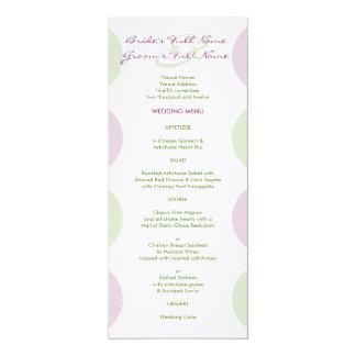 Purple Artichokes Wedding Menu Card