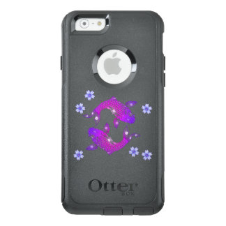 Purple Asia Floral Koi Fish Nature OtterBox iPhone 6/6s Case