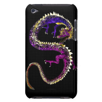 Purple Asian Dragon Barely There iPod Case