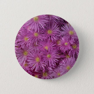Purple Aster Flowers 6 Cm Round Badge