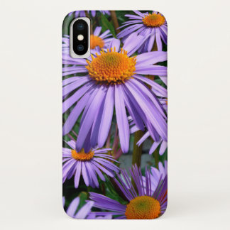 Purple Asters iPhone X Case