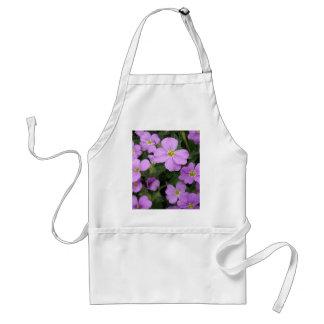 Purple Aubretia Flowers Standard Apron