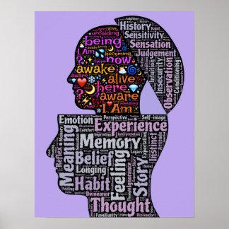 Purple Awakening Transcendence Poster