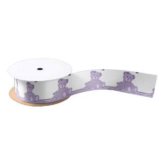 Purple Awareness Bears Satin Ribbon