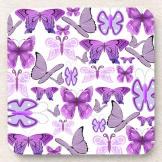Purple Awareness Butterflies Coaster