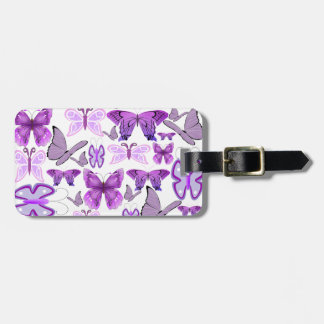 Purple Awareness Butterflies Luggage Tag