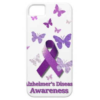 Purple Awareness Ribbon: Alzheimer's Disease iPhone 5 Covers