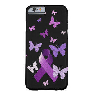 Purple Awareness Ribbon Barely There iPhone 6 Case