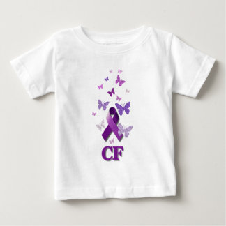 Purple Awareness Ribbon: Cystic Fibrosis Baby T-Shirt