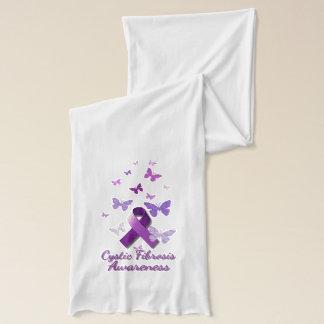 Purple Awareness Ribbon: Cystic Fibrosis Scarf Wrap