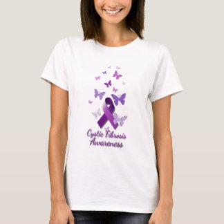 Purple Awareness Ribbon: Cystic Fibrosis T-Shirt
